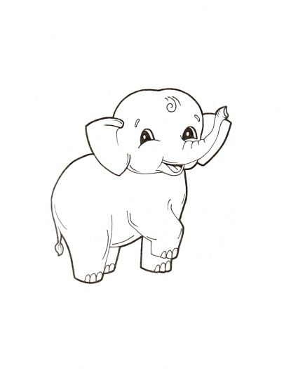 baby elephant coloring pages Baby Elephant Coloring Pages | Cute Baby Elephant coloring page  baby elephant coloring pages
