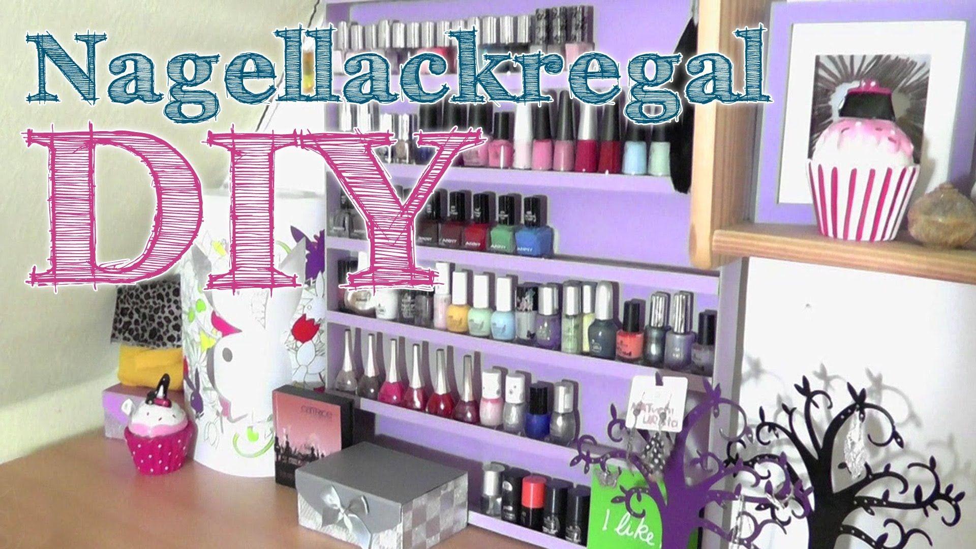 DIY | Nagellack-Regal ( Aufbewahrung ) | Beauty organization | Pinterest