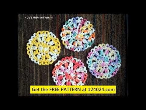 crochet coaster patterns crochet coasters free pattern crochet cd coaster pattern - YouTube