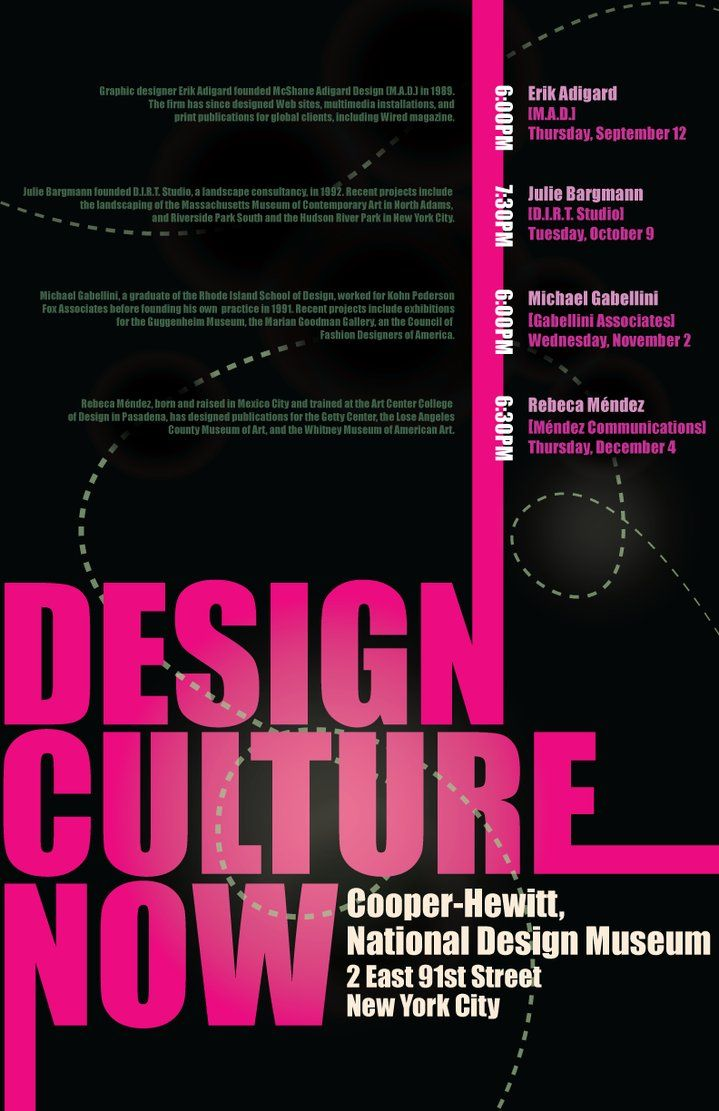 Poster design hierarchy - An Example Of Color Hierarchy The Design Culture Type In This Poster Great Emphasis