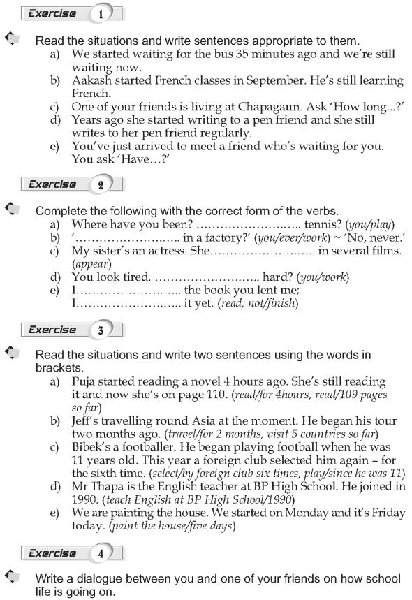 grade 9 grammar lesson 9 present perfect continuous language present perfect grammar. Black Bedroom Furniture Sets. Home Design Ideas