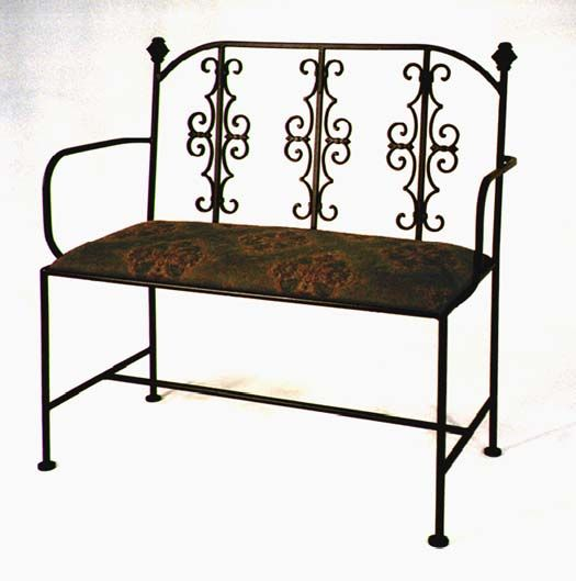 Wrought Iron Furniture Love Seat Wrought Iron Bench Wrought Iron Furniture