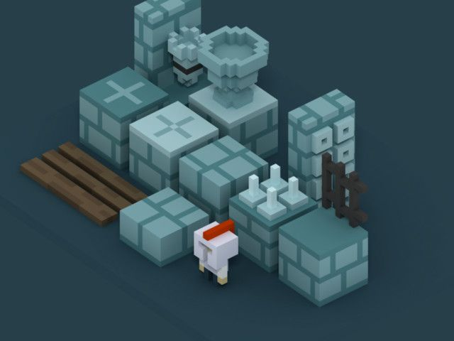 Modeled in MagicaVoxel and exported using Qubicle this set of