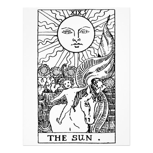 Free Tarot Card Coloring Pages Google Search The Moon Tarot Card The Sun Tarot Card The Moon Tarot