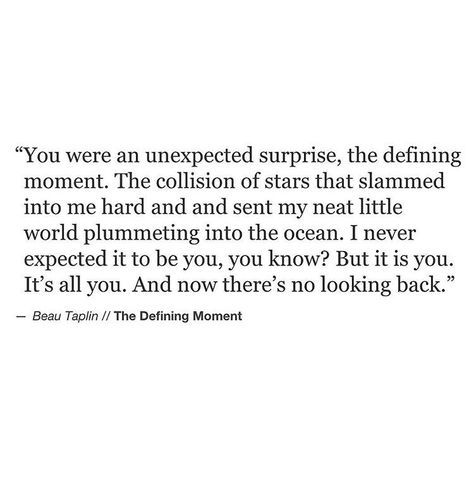 Unexpected. [Beau Taplin]