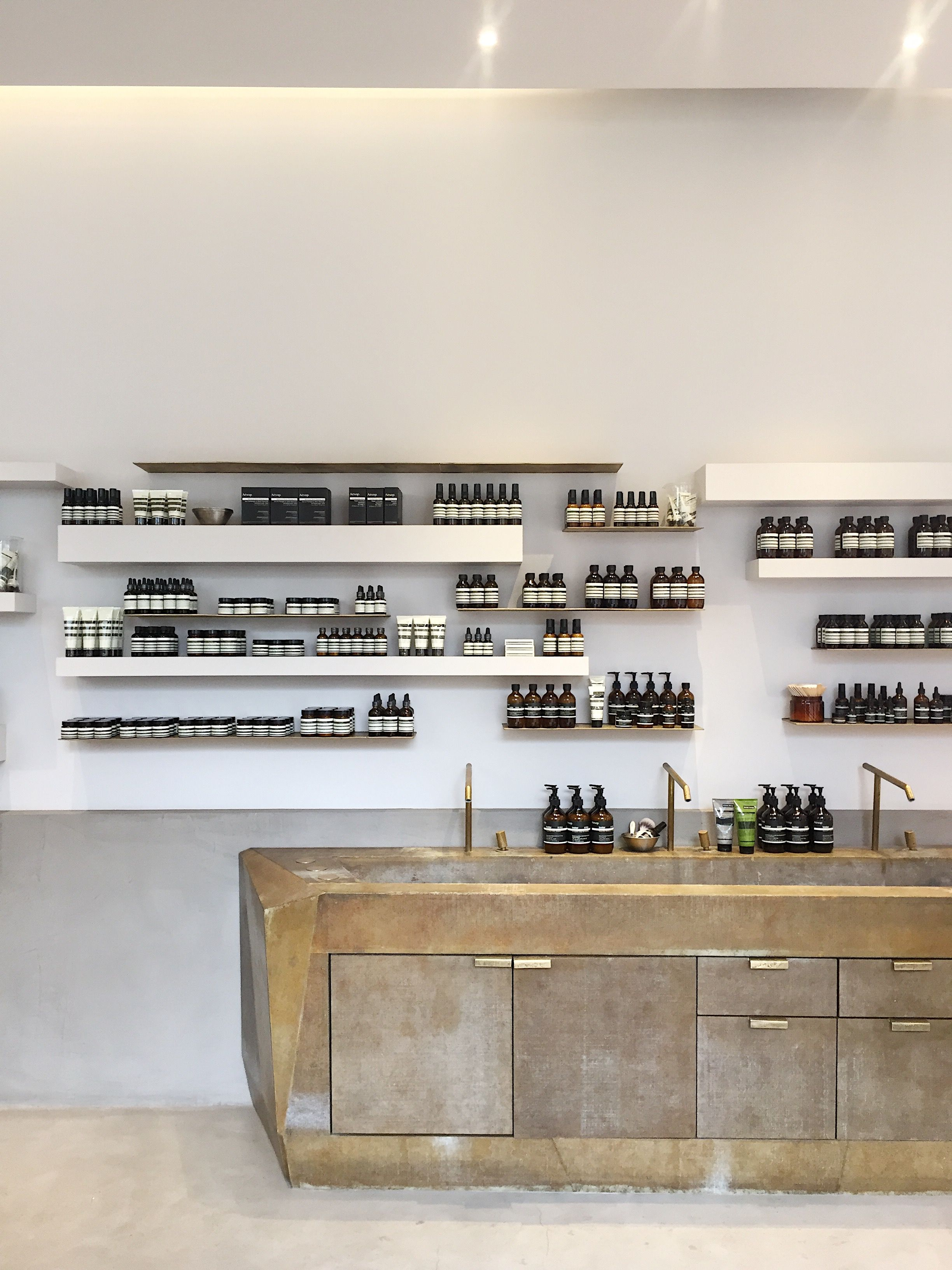 Aesop Store Milan With Images Aesop Store Restaurant Interior Design Aesop