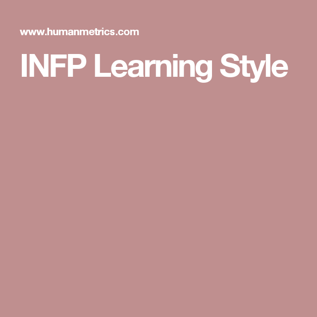 INFP Learning Style