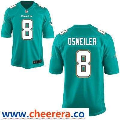 Wholesale Men's Miami Dolphins #8 Brock Osweiler Green Team Color Stitched NFL