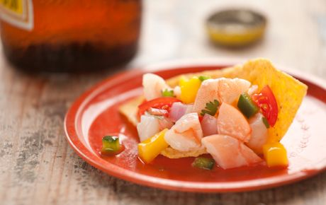 Shrimp and Mango Ceviche    A personal fav... it is why Tostitos makes SCOOPS