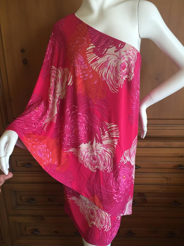 97aa61407 Gucci Chrysanthemum Print One Sleeve Mini Dress | Style | Mini dress ...