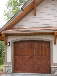 Garage Doors On A New South Classics Mountain Home Garage With