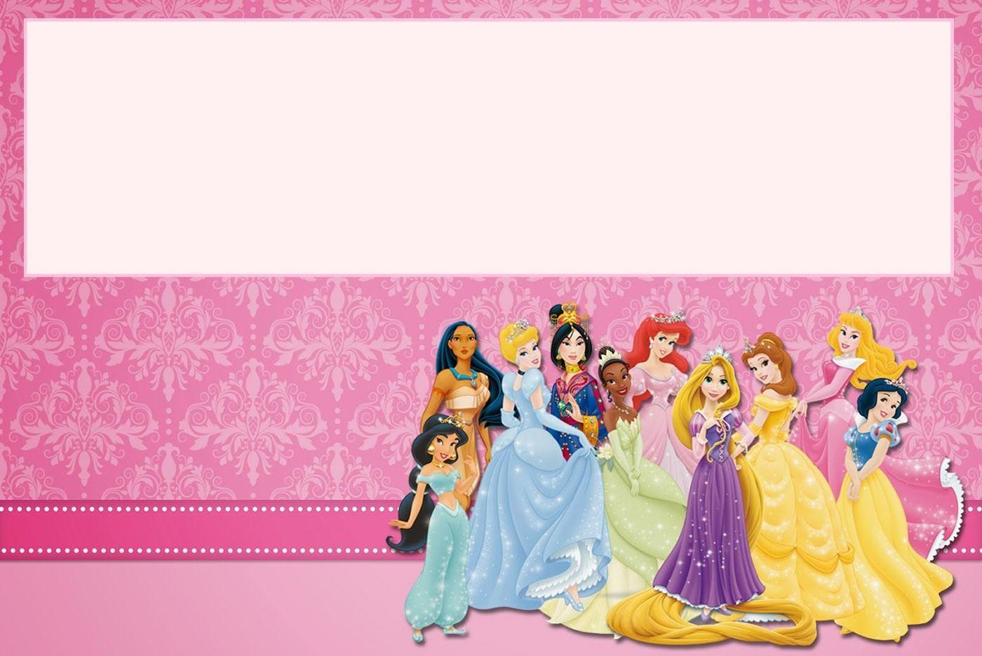 Printable Princess Birthday Invitation Disney Invitations Party