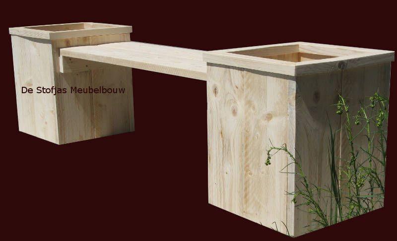 Fonkelnieuw Tuinbank met plantenbak, van steigerhout   steigerhout - Tuin XA-32