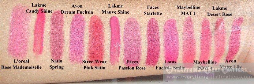 best pink lipsticks for mediumfair indian skin tone