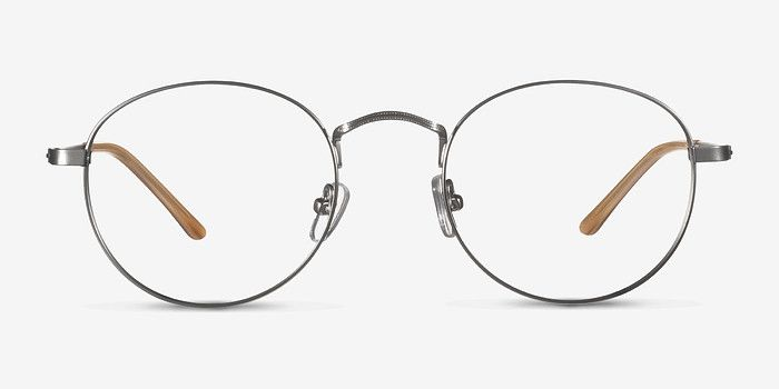 0ddb1ecbda29 Cupertino - Round Silver Frame Glasses | EyeBuyDirect. Cupertino Silver Metal  Eyeglasses from EyeBuyDirect. Discover exceptional style ...