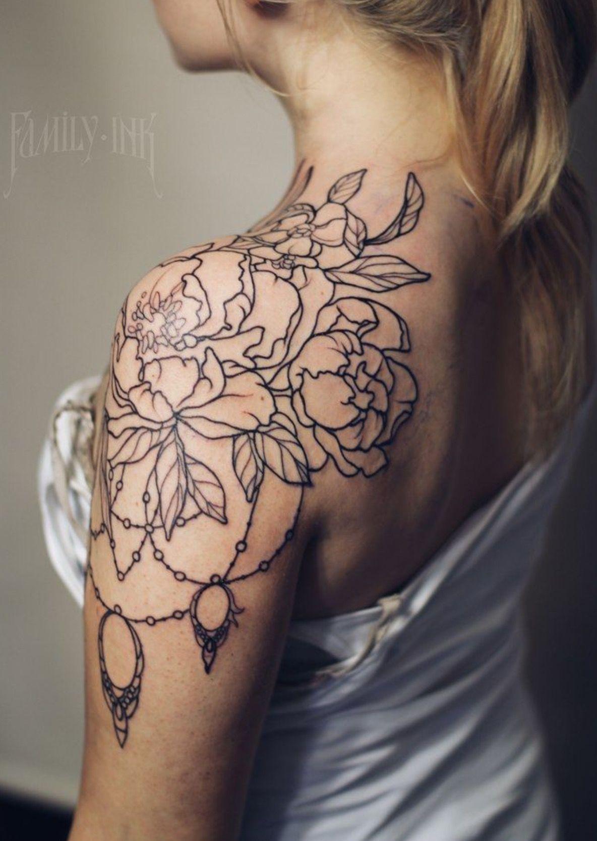 Shoulder Chandelier Shoulder tattoos for women, Lace