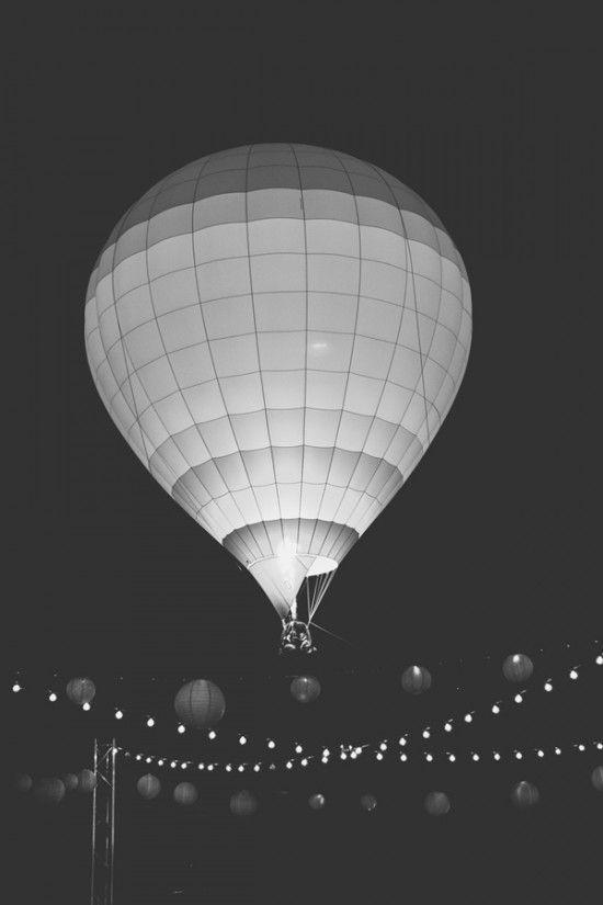 saída balão de ar quente no casamento