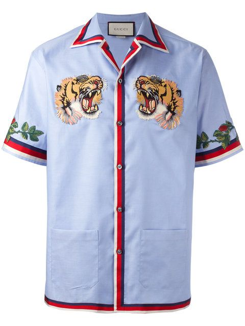 b4b45786 GUCCI Bengal Tiger Bowling Shirt. #gucci #cloth #shirt | Gucci Men ...