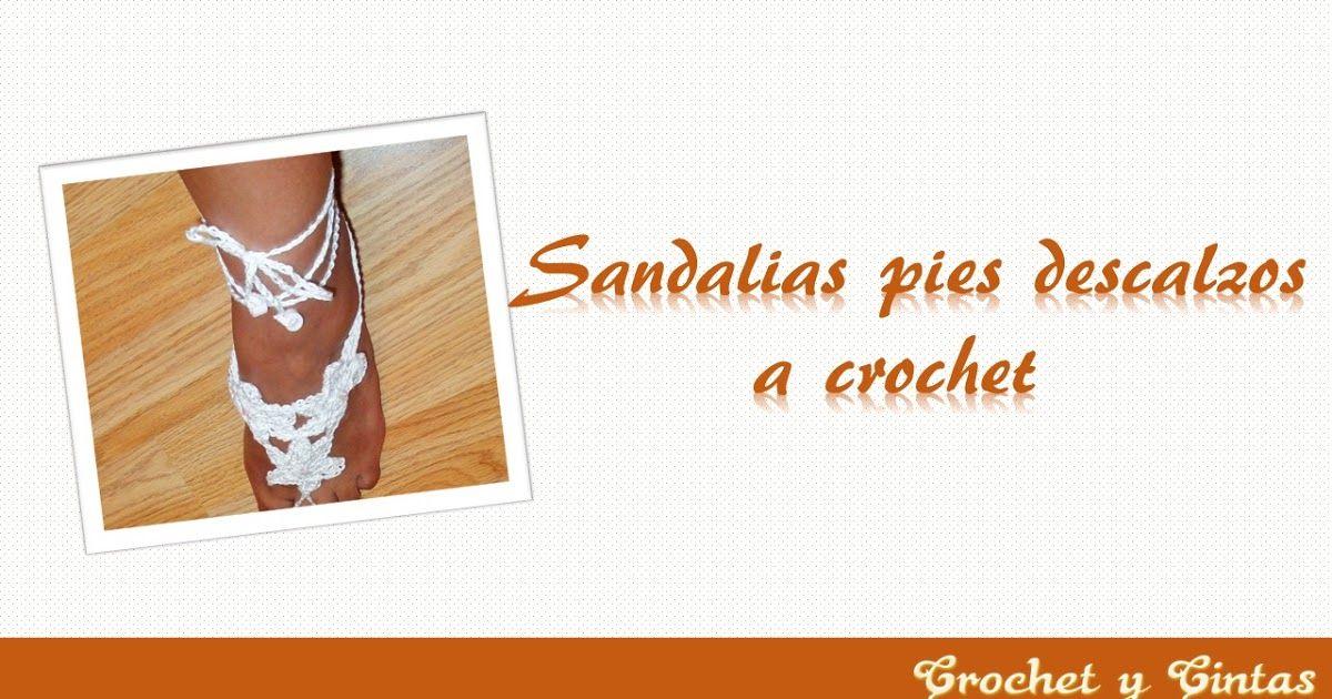 Sandalias pies descalzos - Pulseras para pies descalzos crochet ...