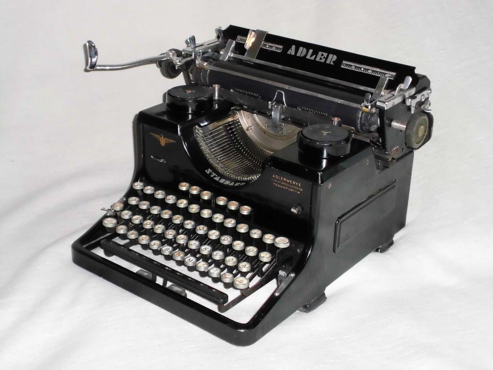 Antike Schreibmaschine Adler Standard Heinrich Kleyer Adlerwerke Frankfurt A M Schreibmaschine Frankfurt Antike