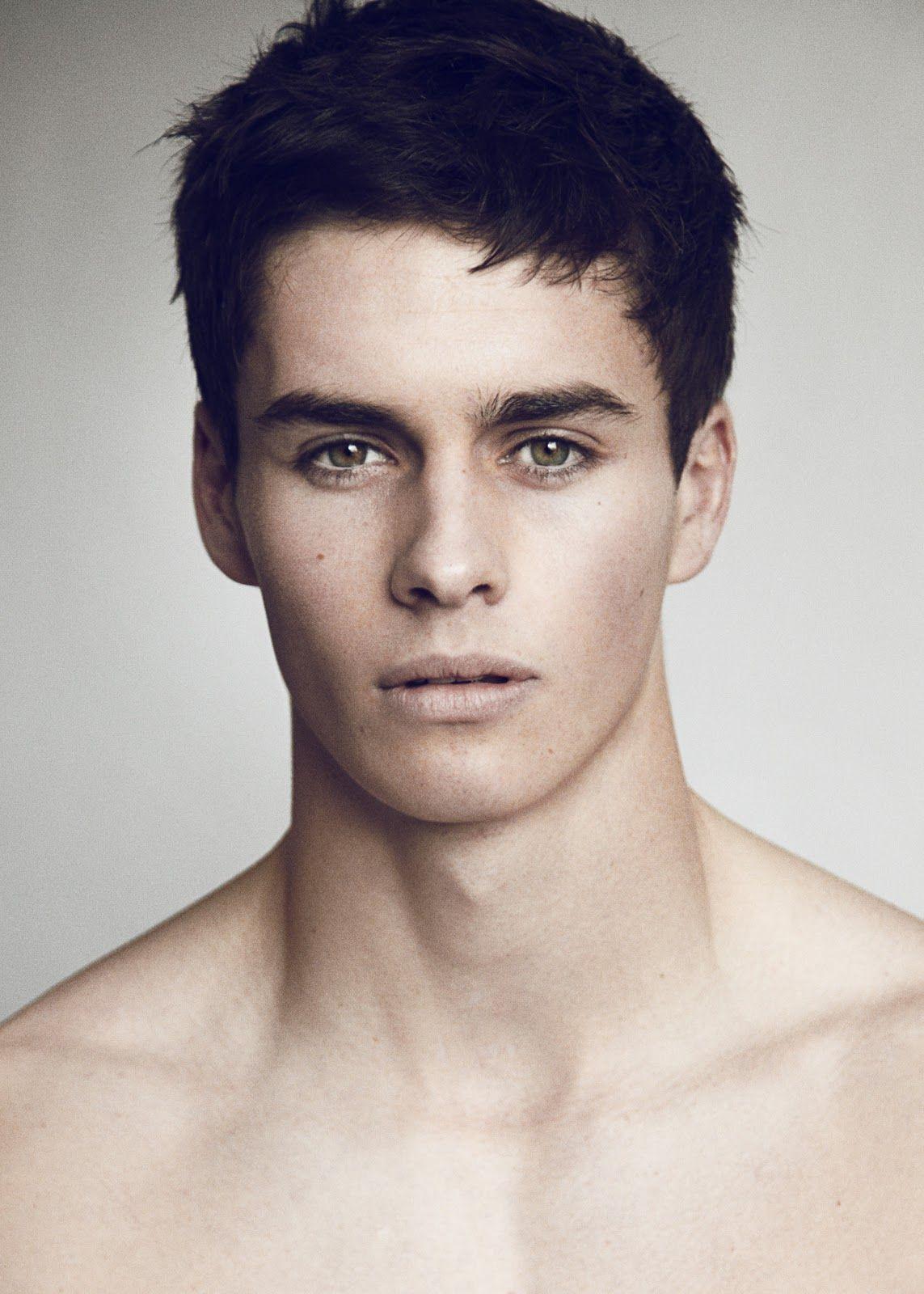 Three Column Grid Male Fashion Model Face  Faces  Men -5028