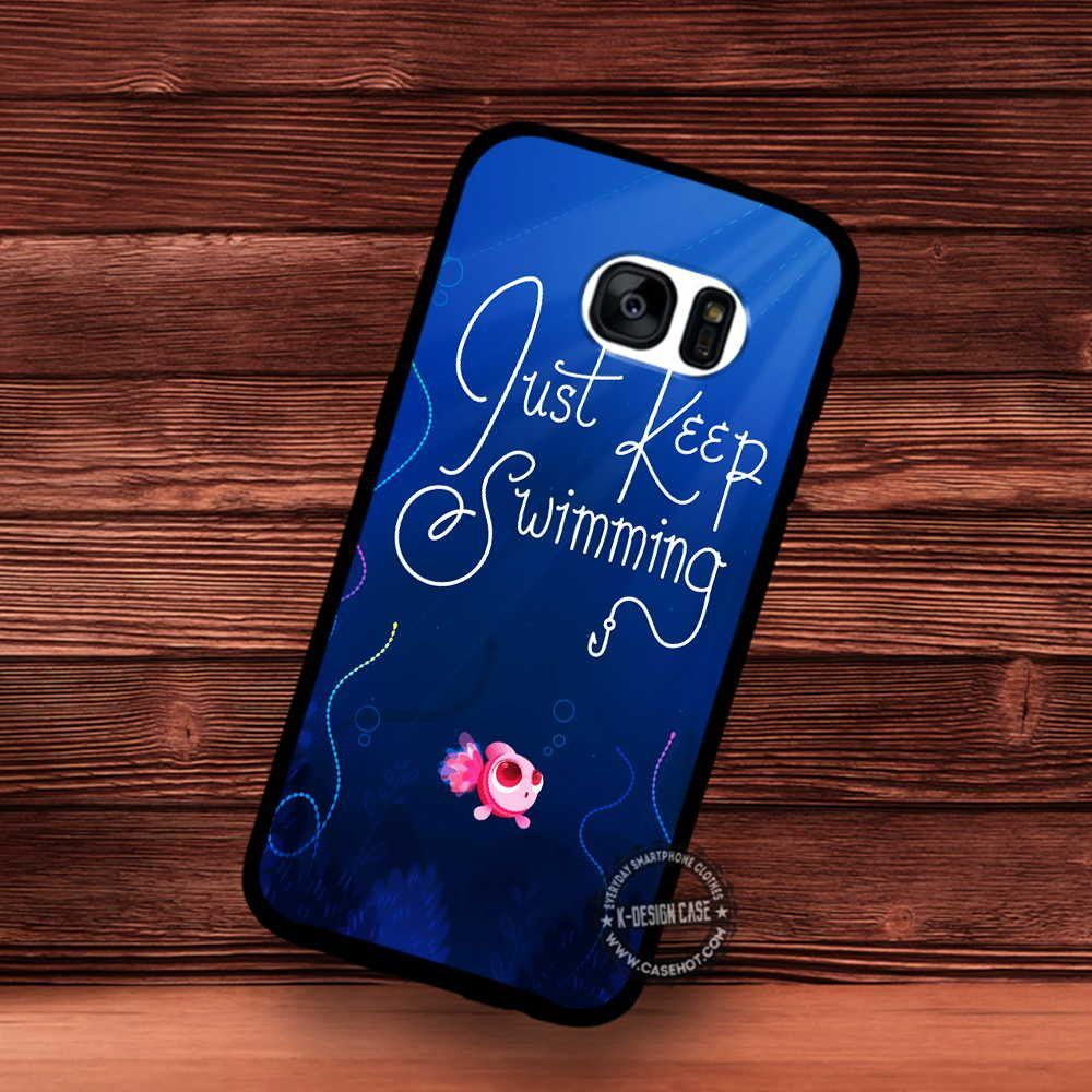 Just Keep Swimming by Chelseyholeman - Samsung Galaxy S7 S6 S5 Note 7 Cases & Covers