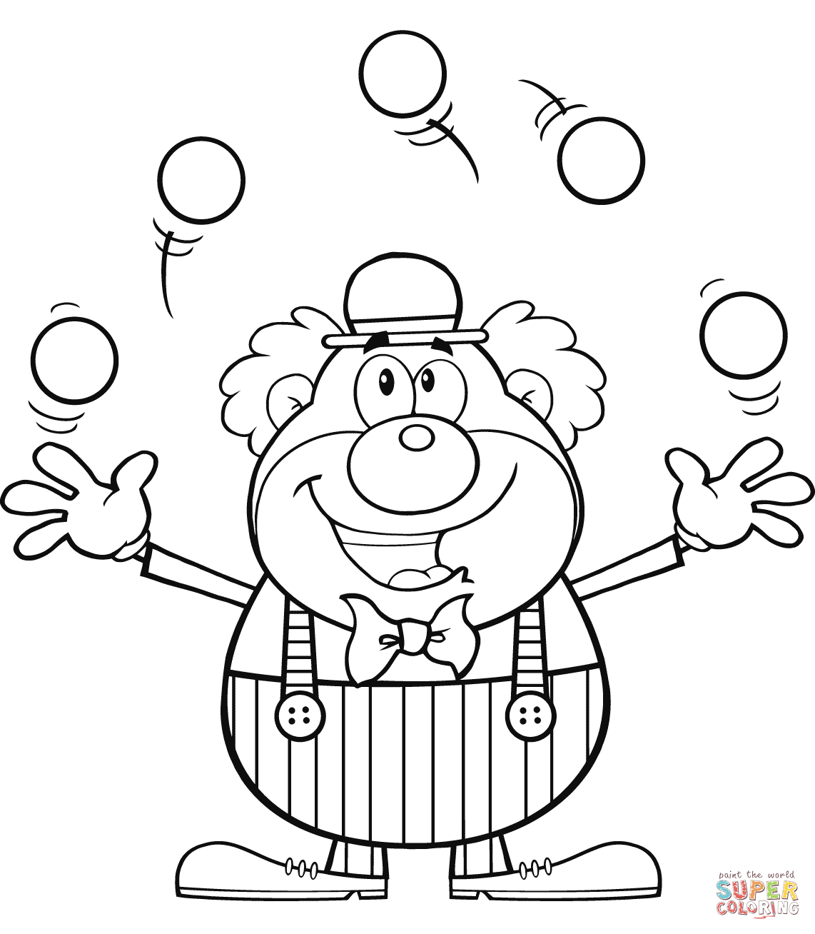 Clown Juggling Balls Coloring Page Free Printable Coloring Pages Zoo Coloring Pages Coloring Pages Cute Clown