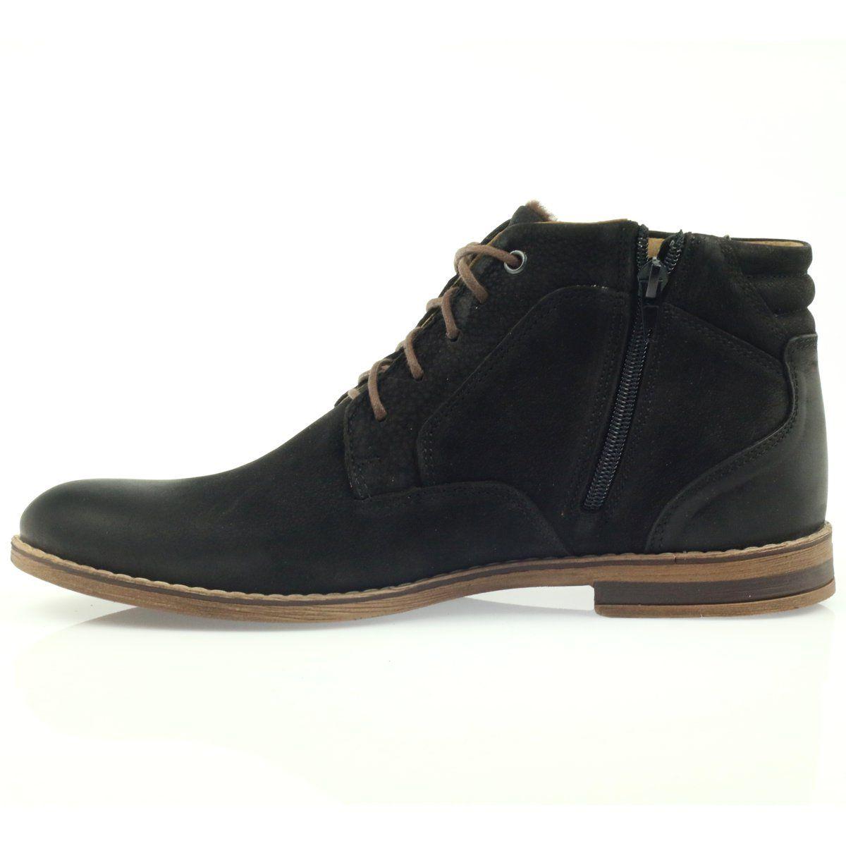 Riko Botki Sztyblety Buty Meskie Na Suwak Czarne Shoes Sneakers Casual