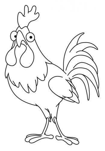 Ostern: Kostenlose Malvorlage: Großer Hahn zum Ausmalen | Huhn Hahn ...