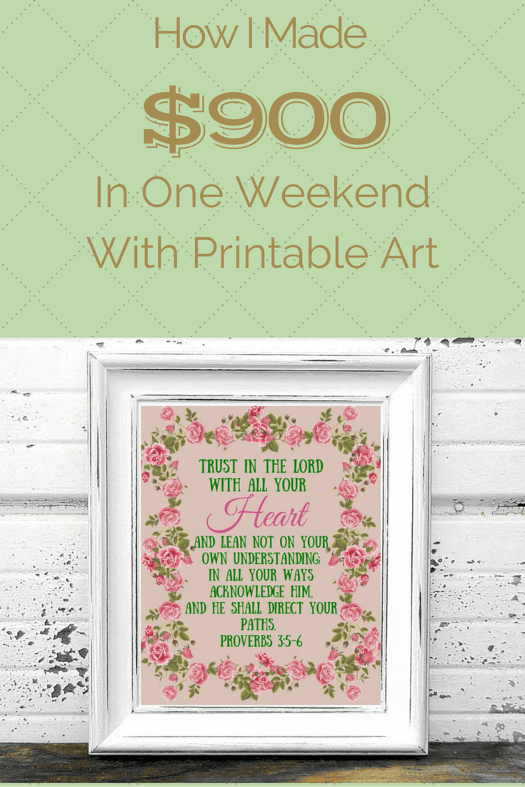 how to make money selling printable art the fraggle momma