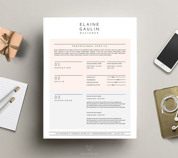 modern cv template 4 word pages by this paper fox on