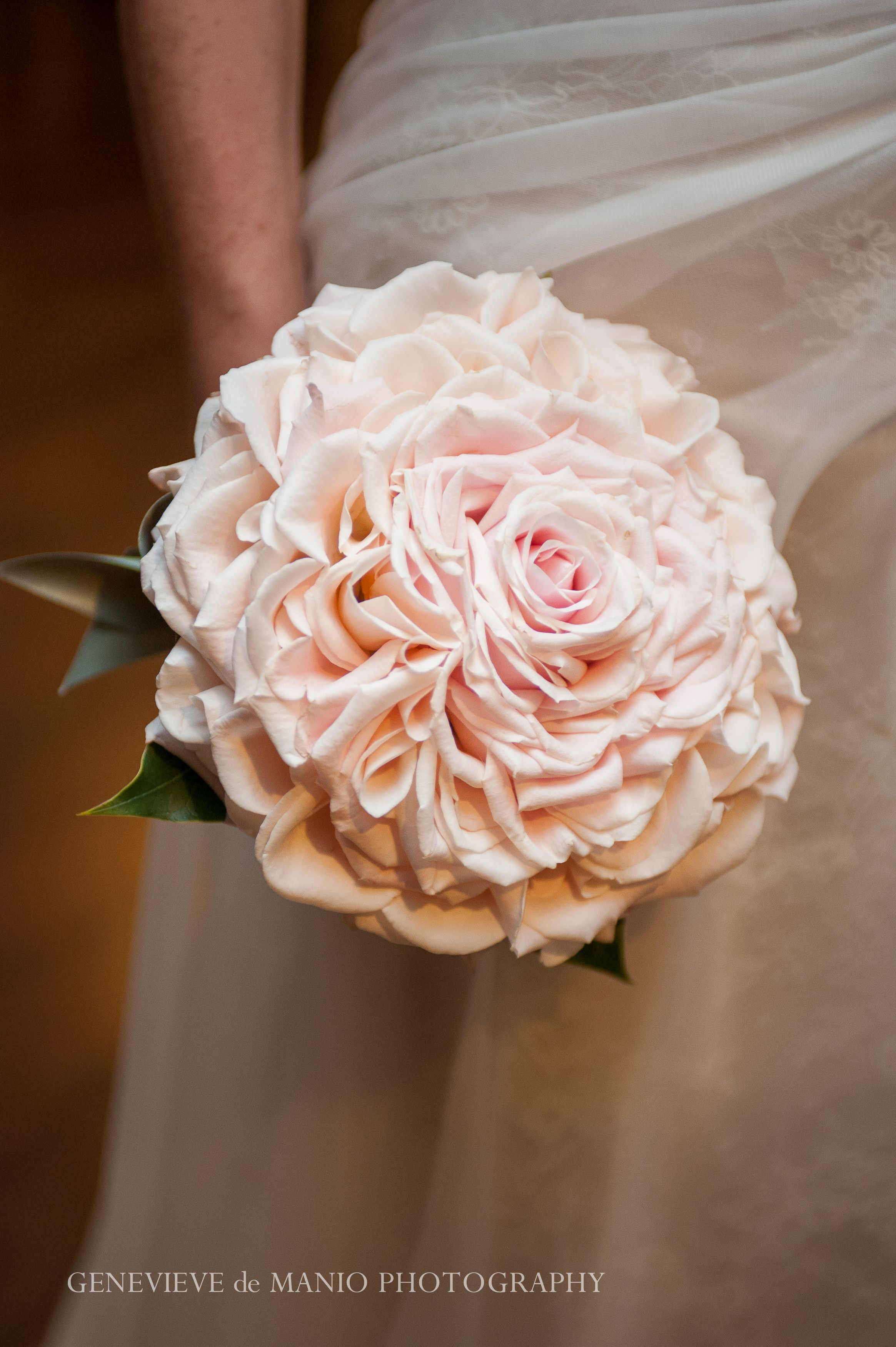 Bouquet Sposa New York.A Magical Soft Blush Bouquet With Fanciful Layers Of Velvety Rose