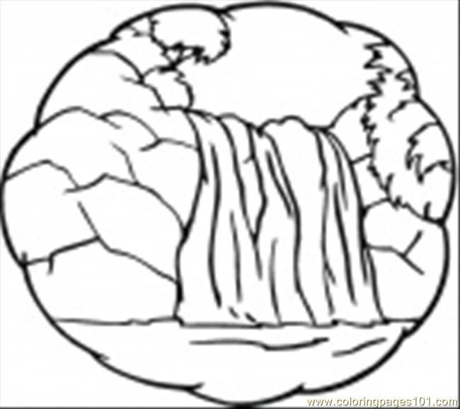 Waterfall Printable Coloring Page Ittle Waterfall Natural World Waterfall Waterfall Drawing Coloring Pages Coloring Pages For Kids