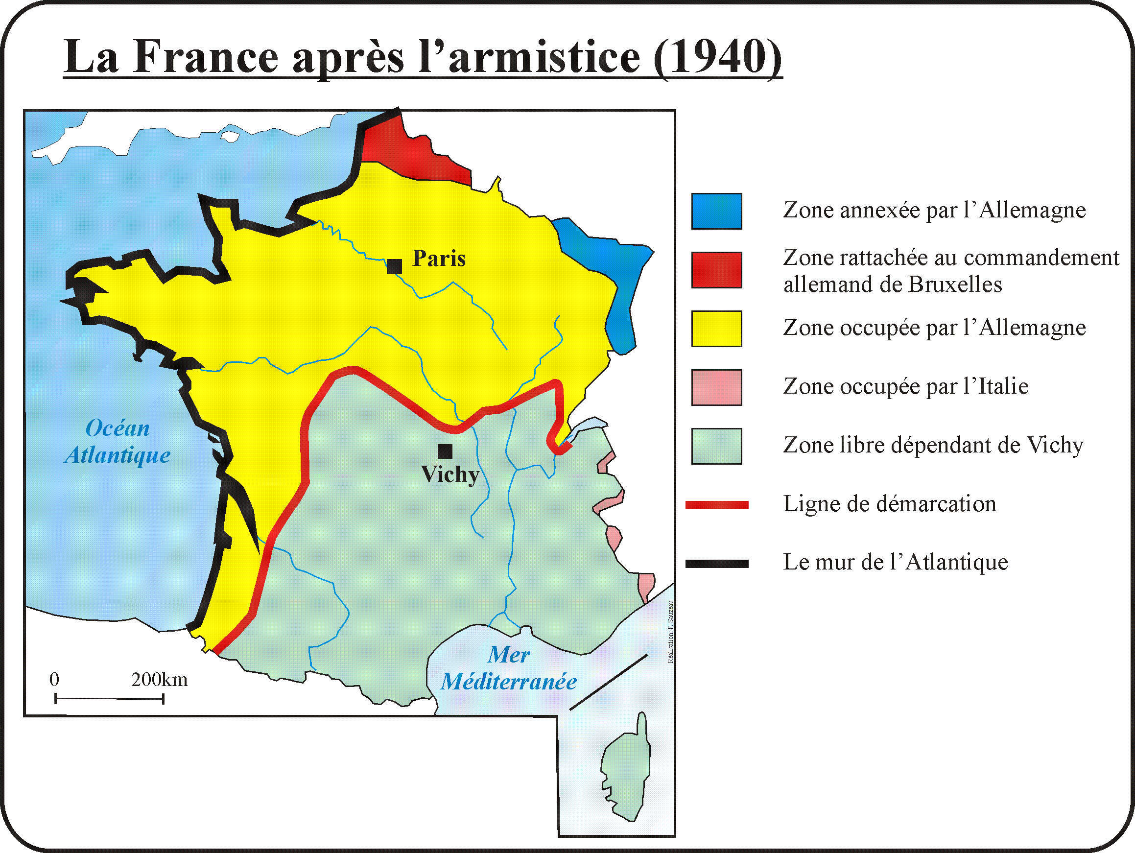 carte de france 1940