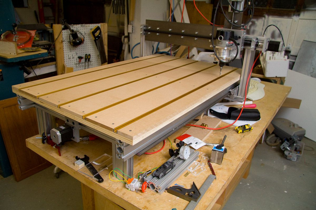 My homebuilt CNC machine 2' x 3' working area. Cnc