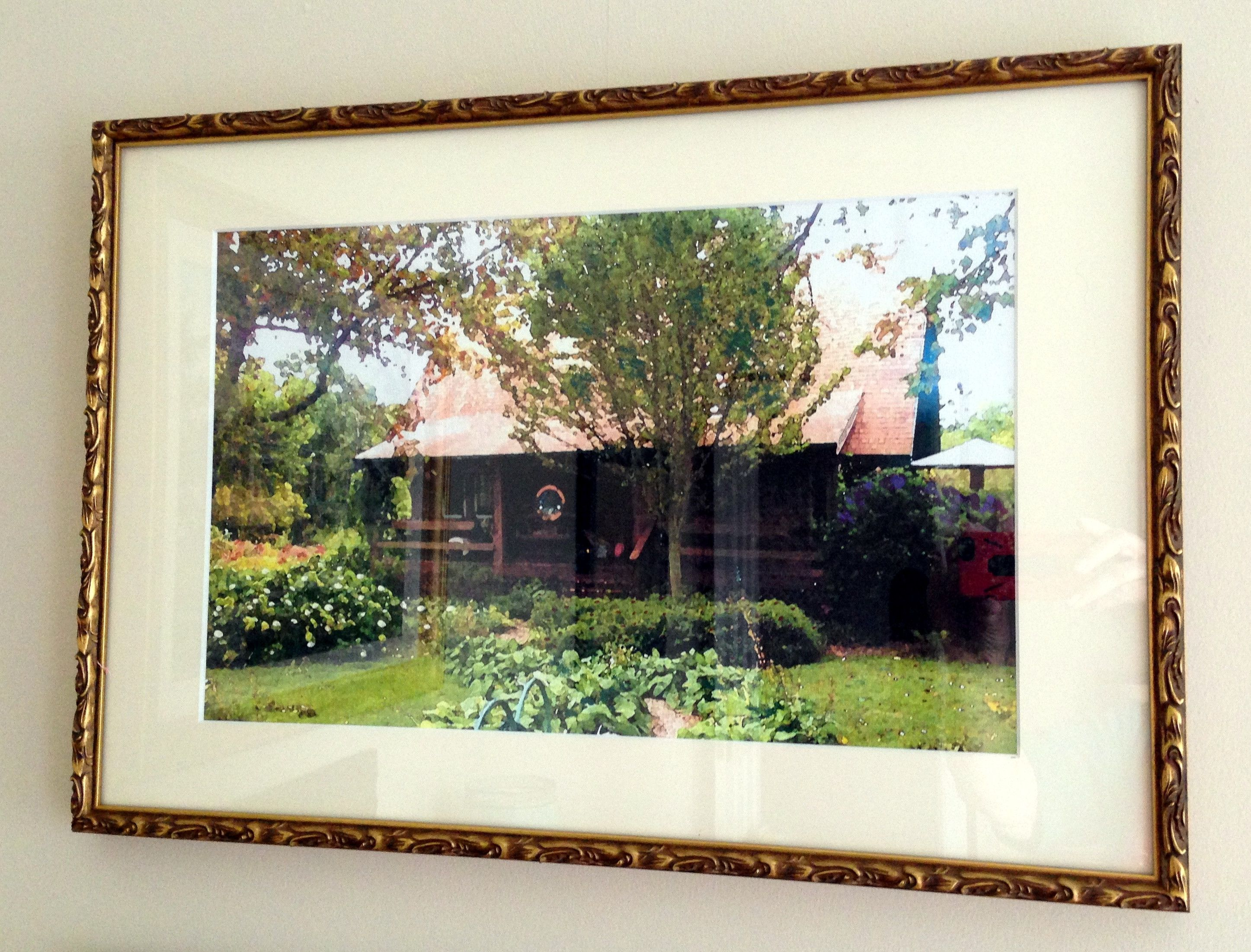 Large Frame Mat Thanks So Much For Sharing This Large Mat In A Golden Frame