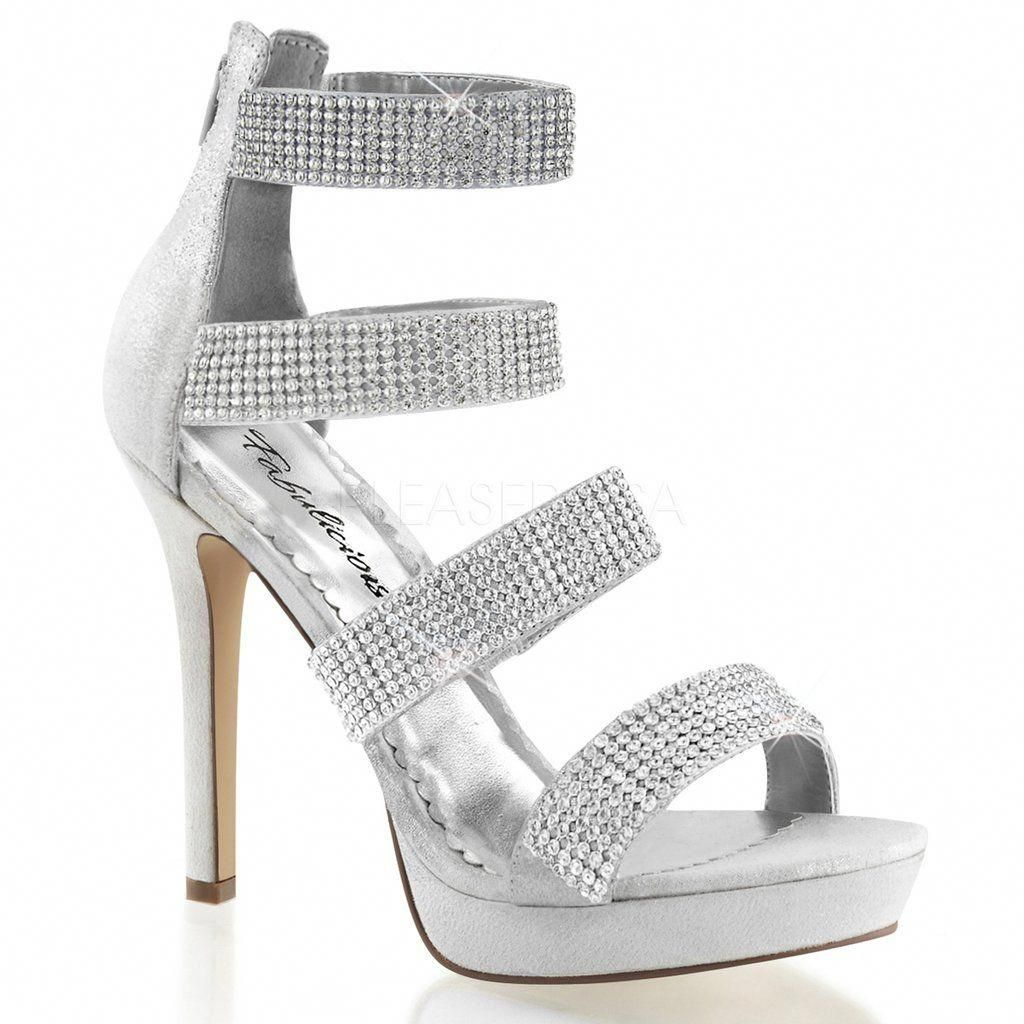 Lumina30 Pleaser Shoes Promheels Prom heels, Silver