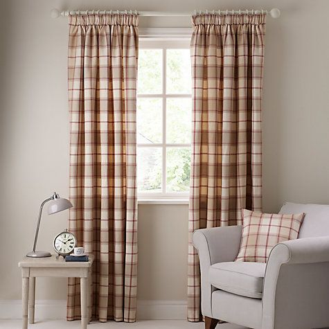 Living Room Ideas Buy John Lewis Marlow Check Pencil Pleat Curtains Online At Johnlewis