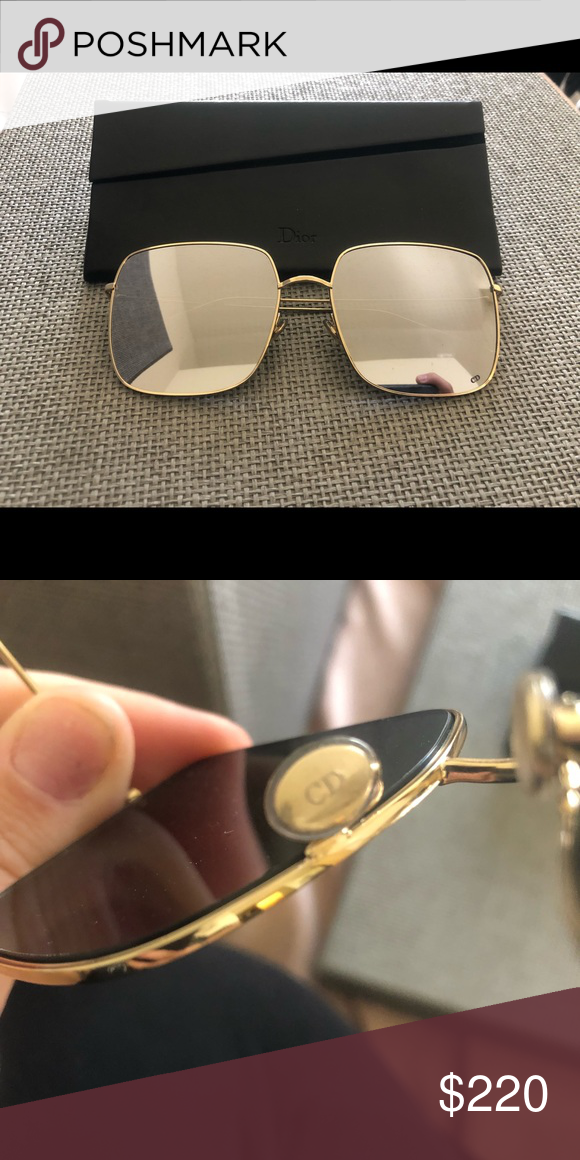 f0ec2395b46b Christian Dior Stellaire glasses Gold rim