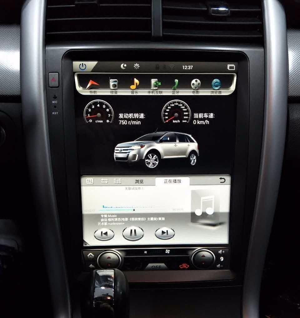12 1 tesla style android navigation radio for ford edge 2011 2014