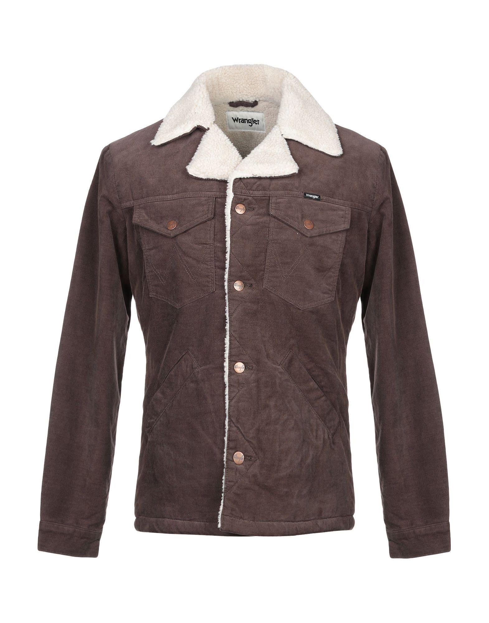 Wrangler Jacket In Dark Brown Modesens Jackets Wrangler Leather Jacket [ 2000 x 1571 Pixel ]