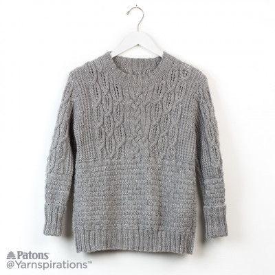 Free Intermediate Knit Pullover | Knitting | Pinterest