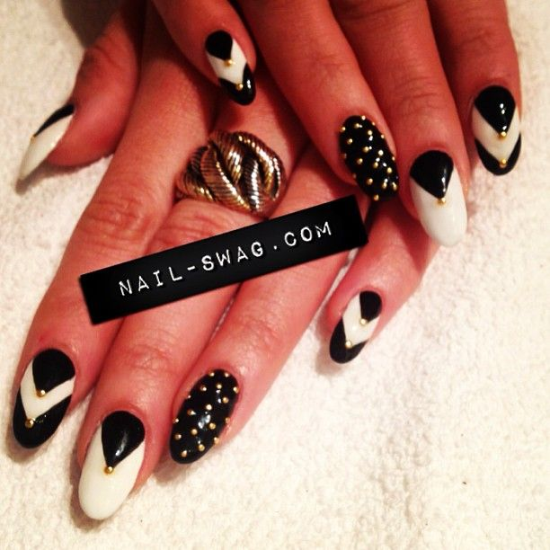 Photo By Nailswag Nail Art Pinterest Nail Swag Pointed Nails