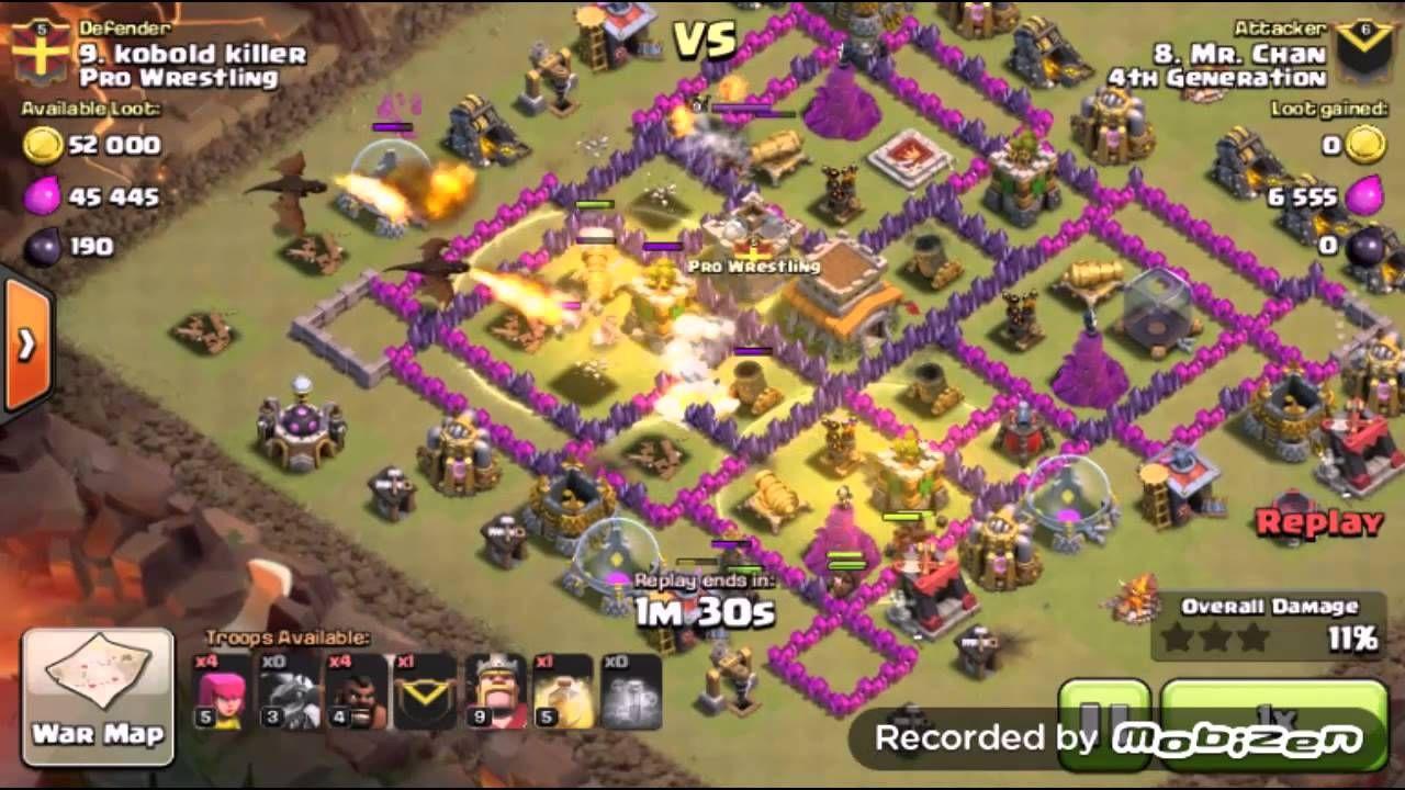 th8 hog [ dragrider ] attack strategy war | 3 star war
