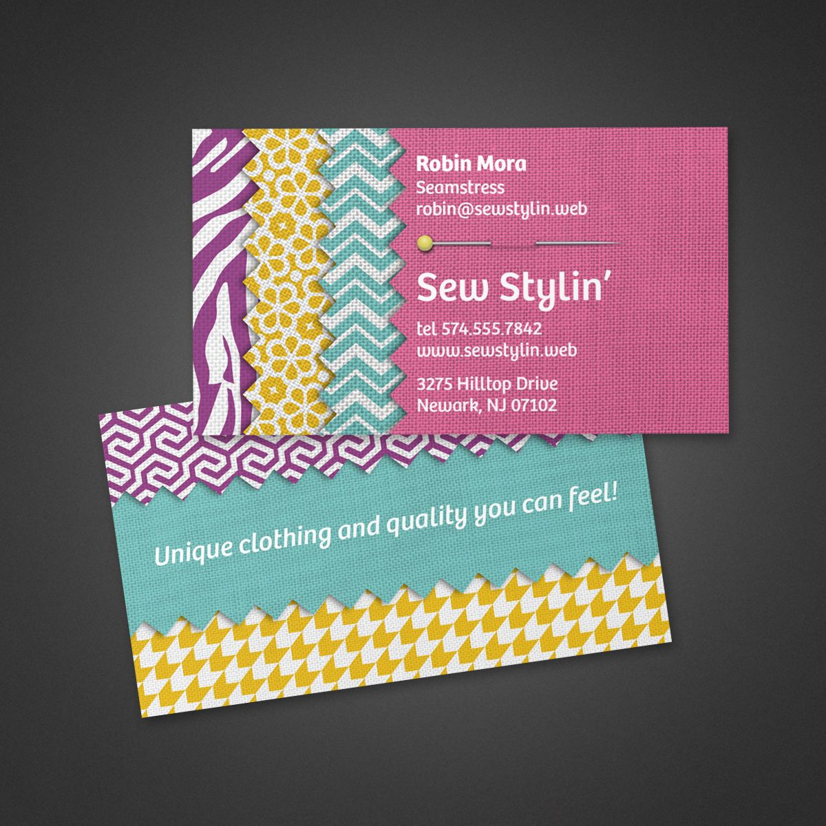 Crafts Fabric Business Card Vistaprint Glossy Business Cards