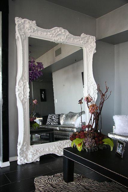 Victorian Mirror in White | Rockers, Diva and Mirror mirror