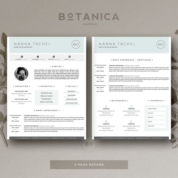 Resume Template  Page  Cv Template  Cover Letter For Ms Word