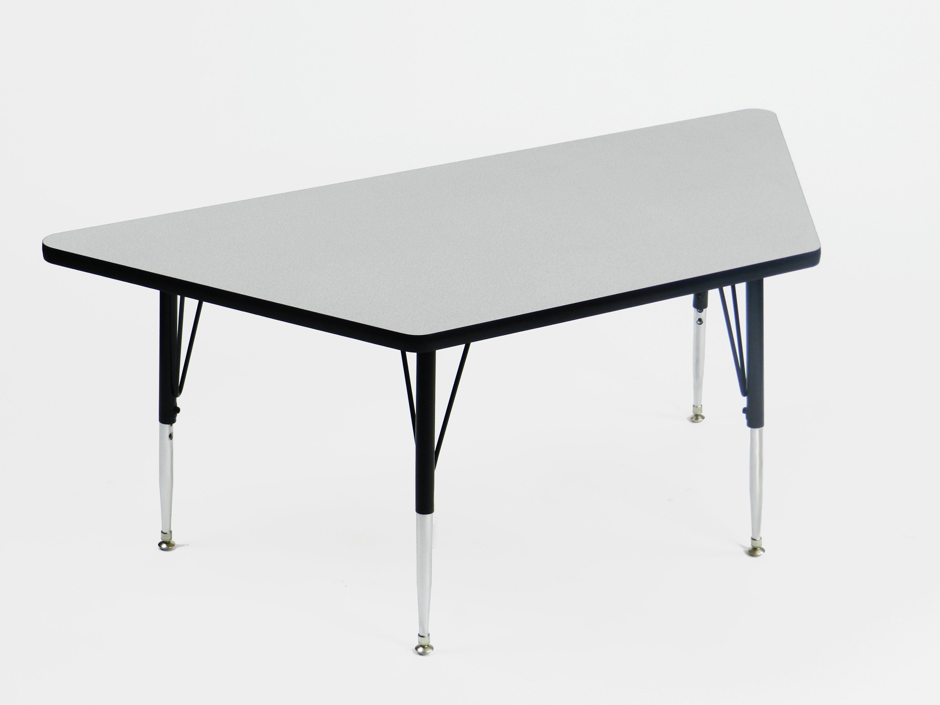 Correll EconoLine Melamine Top Short Leg Adjustable Height Activity Table - Trapezoid - 30x60 in. - AM3060-TRPS