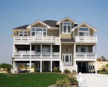 Plan 13042fl Beach House With Lots Of Porches And Decks