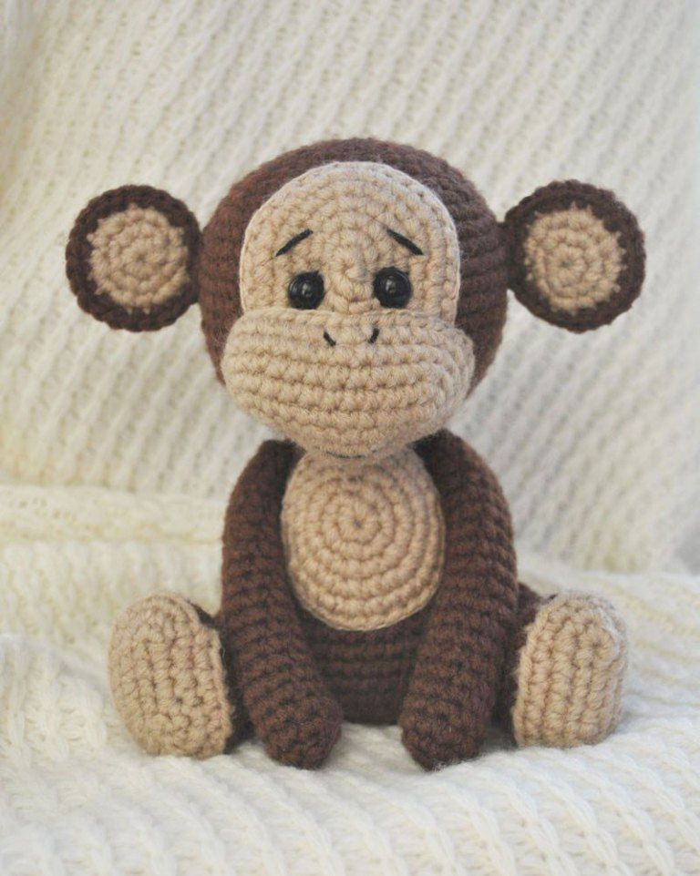 Patrón de amigurumi de mono travieso gratis | muñecas tejidas ...
